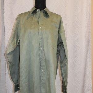 Geoffrey Beene Green Long Sleeve Dress Shirt